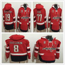 Wholesale Cheap Xxl Hoodies - Cheap 2017 Washington Capitals 8 Alexander Ovechkin 19 nicklas backstrom 77 T.J. Oshie Red Men Hoodies Stitched Hockey Jerseys Size M-3XL