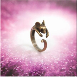 Wholesale Mouse Love - G049 One Direction Ring Bijoux Hot New Parttern 2016 Love Mouse Vintage Bronze Rings For Women Jewelry Accessories Cheap Gift