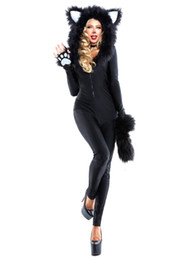 Мультфильм животных сексуальные женские взрослых catwomen клубная одежда партии комбинезон необычные платья талисман боди костюмы YYQ4539 MLXL от Поставщики мультики для взрослых