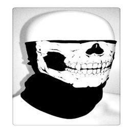 Wholesale Skull Motorcycle Half Helmet - Outdoor Cycling Magic Scarf Hot Multi Function Skull Masks Bandana Motorcycle Helmet Neck Half Face Masks Skull Face Masks Free Shipping