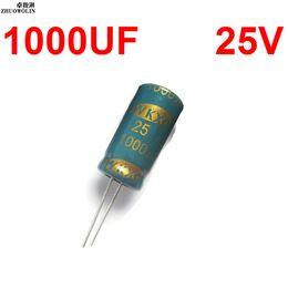 Wholesale Electrolytic Capacitor 25v - Wholesale-10PC Lot High Frequency 1000UF 25V Electrolytic Capacitor SIZE 10X20MM YXSMDZ2623