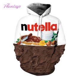 Wholesale Hoody Plus Size Women - Men Women Hooded Sweatshirt 3D Chocolate Print Hoodie Pullover Cap Paint Hoody Tracksuit Tops Plus Size Casual Streetwear Sports