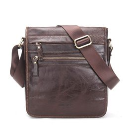Wholesale Male Leather Briefcase - 2017 New Fashion Genuine Leather Man Messenger Bags Cowhide Male Cross Body Bag Casual Men Commercial Briefcase Bag