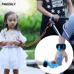 Wholesale Gate Bracelets - Wholesale- Doorways Safety Harness Leash Anti Lost Wrist Link Rope Leash Anti Lost Bracelet for Baby Kids Safety Retractable Leashes Gates