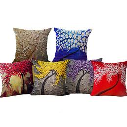Canada Nouvel arbre de vie fleur taie d'oreiller housse de coussin lin coton Throw taies d'oreiller canapé lit voitures oreiller décoratif couvre la livraison gratuite Offre