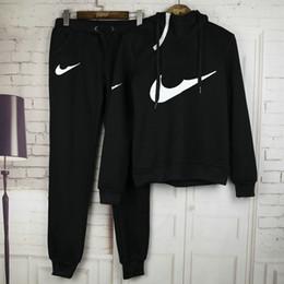 Wholesale Costumes For Black Women - Sports Suit Jogging Suits For Women Letter Print Sport Suit Hoodies Sweatshirt +Pant Jogging Sportswear Costume 2 piece Set @01