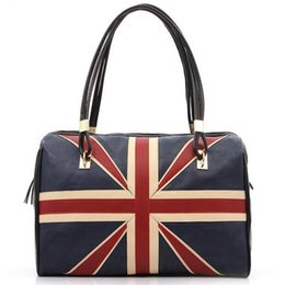 Wholesale Messenger Bags Uk - Wholesale-New Fashion Women's British Style Union Jack UK Flag Leather Handbag Shoulder Big Bagfor women Vintage Messenger Bag QT2030