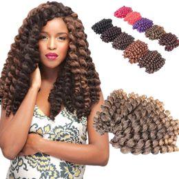 Wholesale Freetress Hair - 2017 jamaican bounce crochet hair Freetress synthetic braiding hair extension havana twist crochet braids 8 inch Bounce Twist