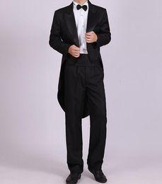 Wholesale White Tail Coat Suit - wholesale mens stage performance swallow tail coat dress coat magic show mans suit 4pcs suit including jacket pants bowtie corset B525