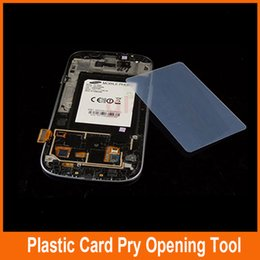 Wholesale Disassemble Tools - 100pcs Pry Card mobile phone shell Plastic film Open frame Mobile phone disassemble tool Slim for Samsung split frame