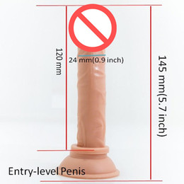 Wholesale Wholesale Realistic Dildos - Anal Dildo 14.5cm with Strong Suction Cup, Realistic Silicone Dildo, Fake Rubber Penis, butt plug, Sex Toys for couples