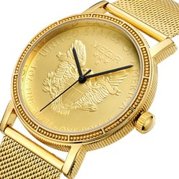 Wholesale Tungsten Watch Chain - Men's watch thin quartz wristwatches gold watch simple fashion Steel Chain Watch cheap watches for men