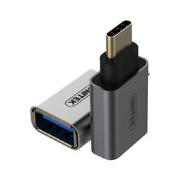 Wholesale Usb C Adaptor - wholesale 2017 Mini USB3.1 Type-C to USB-A Adaptor type-c to usb converter Aluminium housing free shipping
