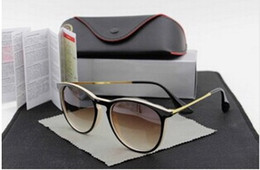 Wholesale 52mm Uv - 1pcs High Quality UV Protection Fashion Sunglasses Designer Brand Sun Glasses For Men Women Matt Black Gradient 52mm Lens With Box #14717