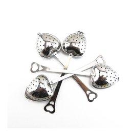 Wholesale Stainless Teaspoons Heart Shape - 200 pcs lot Hot Amazing Love Heart Shape Style Stainless Steel Tea Infuser Teaspoon Strainer Spoon Filter Kitchen Tool ZA1094