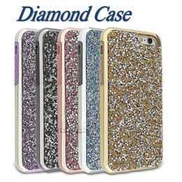 Wholesale Diamonds Iphone Cases - Diamond Case Glitter Backcover For iPhone 8 Samsung s8 note 8 cases Soft TPU Protector For iPhone 7 Plus 6S Plus OPP