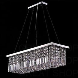 Wholesale Modern Yellow Chandelier - Length 100cm Modern Crystal Color LED Pendant Light Ceiling Lamp Chandelier Lighting Freeshipping