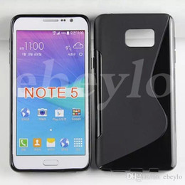 Wholesale Note S Tpu - S-Line S Line tpu PC Cases for Samsung Note 5 n 9200 Back Cover Shell Free DHL