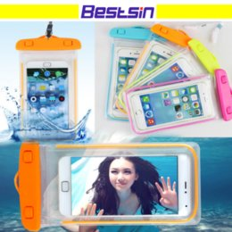 Wholesale Note Xiaomi - Bestsin Sealed Waterproof Phone Case Bag Pouch Luminous Phone Cases For Xiaomi iPhone X 8 7 Plus Samsung Note 8