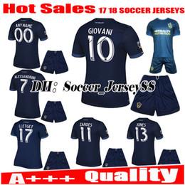 Wholesale Men S Red Galaxy Shirt - 2017 2018 top Thai quality LA Galaxy kits 17 18 Away blue soccer Jersey customize GERRARD ZARDES GIOVANI KEANE jerseys football shirts