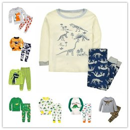 Wholesale Dinosaur Pyjamas - Dinosaur Boys Sleepwear Toddler Animal Pajamas Boy's Nightwear Clothing Set Infantil Pijamas Bebe Children's Night Wear Pyjamas