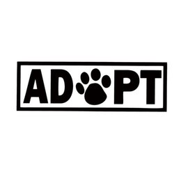 Wholesale Dog Door For Window - For Adopt Dog Cat Animal Rescue Adoption Paw Print Car Styling Jdm Vinyl Decal Car Bumper Sticker Accessories Decorate