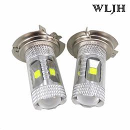 Wholesale H7 Led Xenon - WLJH 30W Led Chip H7 LED Car Styling Lamp Lighting Bulb Headlight Automotive Driving DRL Fog Lamp Bulb H7 Xenon White