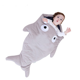 Wholesale Shark Baby Bag - shark sleeping bag Newborns sleeping bag Winter Strollers Bed Swaddle Blanket Wrap cute Bedding baby sleeping bag BaBy
