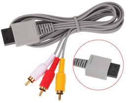 Wholesale Generic Videos - Generic 1.8m Audio Video Gold-plated AV Composite 3 RCA Cable for Nintendo Wii L3FE