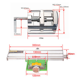 Wholesale Precision Drill - Miniature precision multifunction Milling Machine Bench drill Vise worktable X Y-axis adjustment Coordinate table+ vise