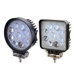 Wholesale Offroad Spotlights - 2x 4 Inch 27W 5D Led Work Lights Offroad Lamp Truck Boat 12v 24v 4wd Round Spotlight