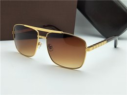 Wholesale Top Men Models - 2017 new luxury logo sunglasses attitude sunglasses gold frame square metal frame vintage style outdoor design classical model top quality