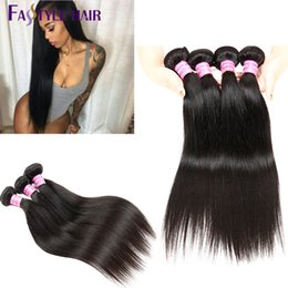 Wholesale Sell Bundle Hair - Hot Selling!Fastyle Brazilian Straight Hair Extensions Natural Black 6pc lot UNPROCESSED Peruvian Malaysian Indian Virgin Human Hair Bundles