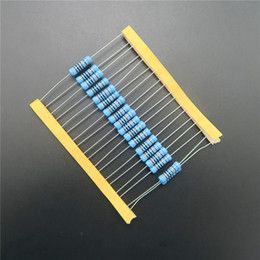 Wholesale 2w resistor kit - Wholesale- 20pcs 2W Metal Film Resistor 2.2k ohm 2.2KR + - 1% RoHS Lead Free In Stock DIY KIT PARTS resistor pack resistance