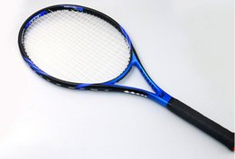 Wholesale Carbon Tennis Racquet - Wholesale- Top Material Tenis Rackets Full Carbon Fiber Tennis Racquets Ultra Light Weight Tennis Racket Body With Tennis String Raquete