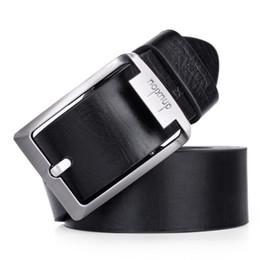 Wholesale Mens Casual Business Jeans - Wholesale- Designer Belts men High Quality mens belts luxury Leather Single Prong Belt Business Casual Metal Buckle for jeans ceinture