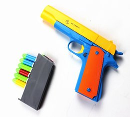 Wholesale Classic Toy Guns - 1PCS M1911 Classic Toys Mauser pistol Children's toy guns Soft Bullet Gun plastic Revolver Kids Fun Outdoor game shooter safety