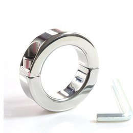 Wholesale Steel Balls Stretcher Ring - 150g small style stainless steel ball stretcher testicle bongage device scrotum weight ring