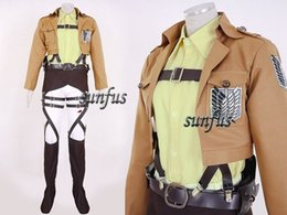 Wholesale Hanji Cosplay - Attack on Titan AOT Shingeki no Kyojin Hanji Zoe Survey Corps leather Cosplay