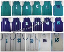 Wholesale Flash Player Light - Retro 1 BOGUES 2 JOHNSON 15 WALKER 30 CURRY 33 MOURNING 41 RICE Purple White Light Blue Jerseys Short Stitched With Player Name