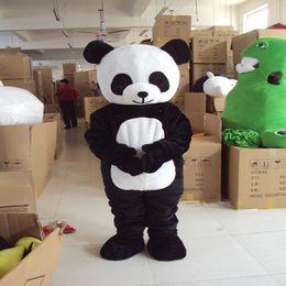Wholesale Mascot Sci Fi - free ship panda animal Christmas Mascot Costume Cartoon Character christmas festival Game toy unisex Adult size