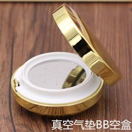 Wholesale Case Bb - Wholesale- free shipping 2pcs lot golden air cushion foundation empty case BB cream puff empty box packing calm makeup bottles