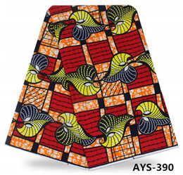 Wholesale Super Wax Block Prints - High qulity super deluxe wax fabric 6yards african real wax block prints for women garment AYS-390,AYS-391,AYS-392