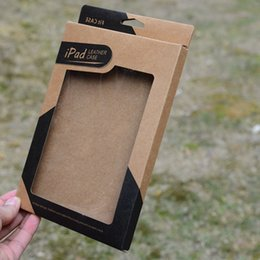 Wholesale Ipad Mini Retail Packaging - Kraft paper Retail package box for Apple ipad mini 2 3 4 5 air 2 Tablet PC 7.9 9.7 inch Leather Case Cover Cases packaging boxes (DY)
