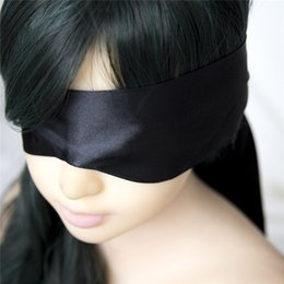 Wholesale Blindfold Party Sex - Satin ribbon Blindfold Sexy Eye Mask Patch Bondage Masque Mask Sex Aid Party Fun Flirt Sex Toys For Woman