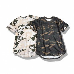 Wholesale Military Army Camouflage Shorts - Arc Hem Camo Shirt Men Army Military Camouflage Short Sleeve T-shirts Man Hip hop Streetwear Crossfit Casual T shirt Homme S-XXL