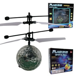 Wholesale Ball Sensor - LED Lighted Flying Toys Gifts Remote sensing sensor fly ball induction light ball flying ball 1373