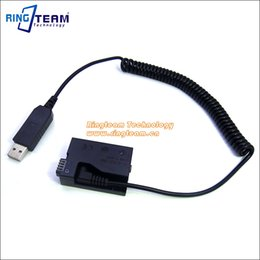 Wholesale Battery Grip T4i - 5V USB Drive Cable Power ACK-E8+DR-E8(LP-E8 LP E8 Dummy Battery DC Grip) for Canon EOS 550D 600D 650D 700D T2i T3i T4i X4 X5 X6i