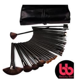 Wholesale Set Brushes 32 Pieces - Beauty Bon 32 Piece Makeup Brush Set with Wood Handles