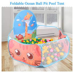 Wholesale Play Pits - Wholesale-Foldable Funny Children Kids Play Tent Ocean Ball Pool BOBO Ball Pit Kids Playhouse Set Toy Baby Gifts